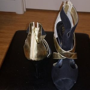 Guess Black Opened Toed Heels by Guess